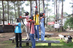 archery game tag en groupe